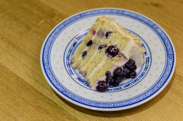 torta gelato con mirtilli