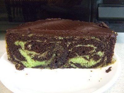 La torta menta e cioccolato