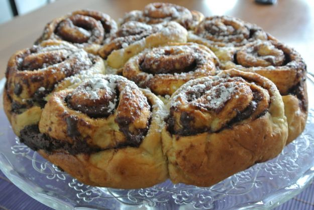 Torta o tortine pere e Nutella