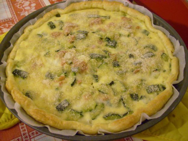 torta salata con zucchine e basilico 2