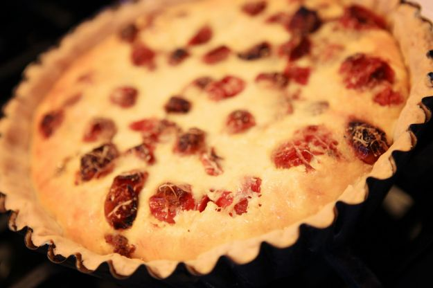 torta salata di pomodorini
