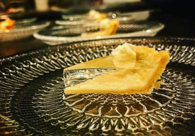 torta trasparente di zucca
