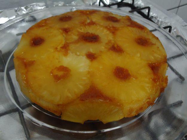 torta yogurt e ananas caramellato