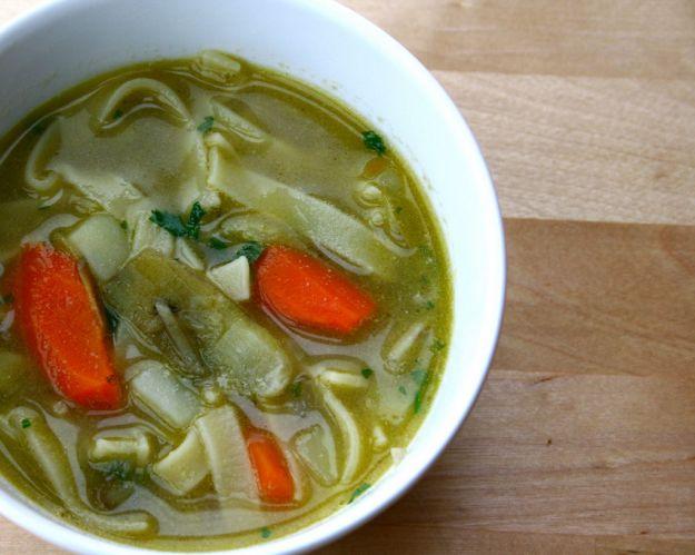 zuppa con carciofi