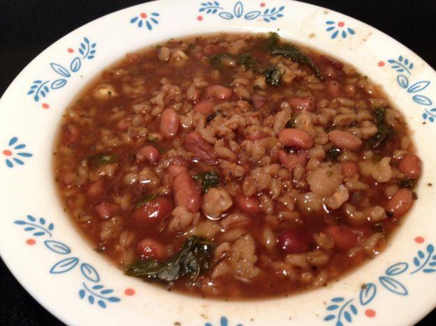 zuppa di orzo e fagioli