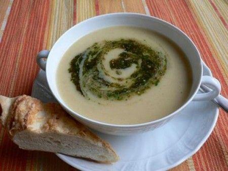 Zuppa di patate e rucola