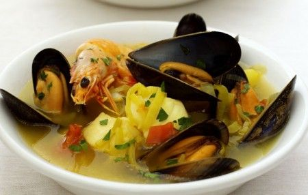 zuppa pesce zafferano