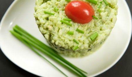 soufflé di riso al pesto