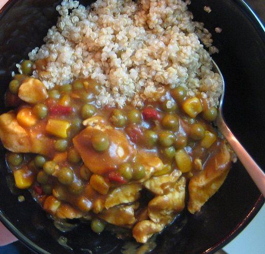 Tacchino al curry con quinoa