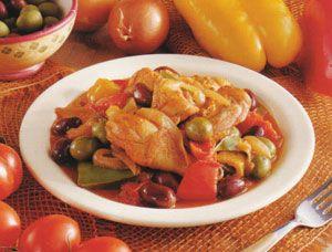 tacchino in casseruola con peperoni e olive