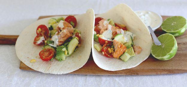 tacos al salmone grigliato