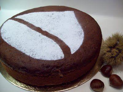 Torta di marron glacé e Nutella