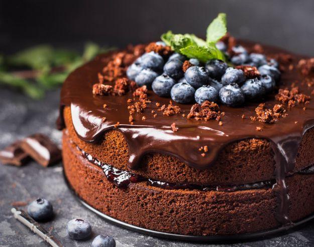 torta cioccolato mirtilli