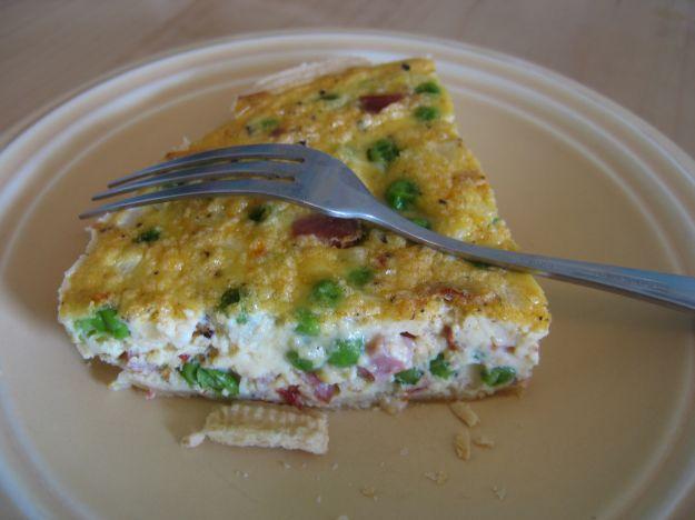 Torta salata di piselli e gorgonzola