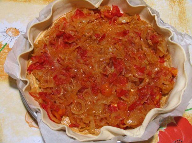 Torta rustica di cipolle senza lievito