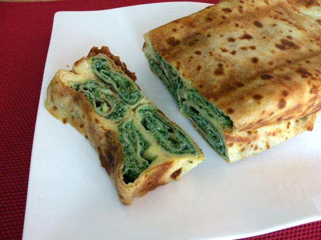 Torta salata con spinaci in pasta fillo