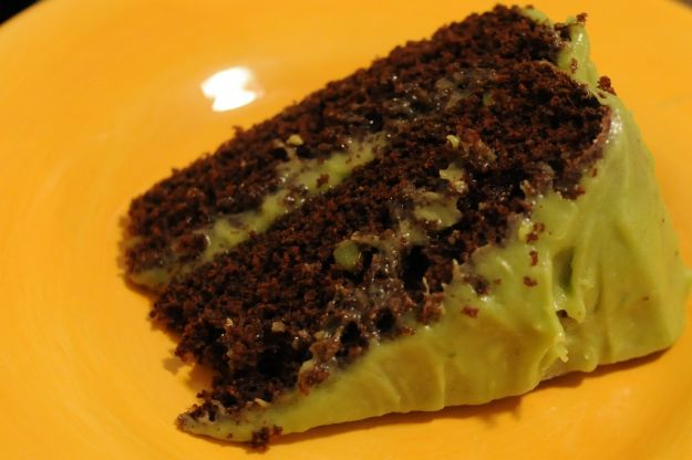 Torta vegana cioccolato e avocado