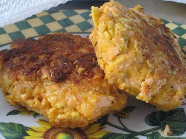 Tortino di salmone con patate e carciofi