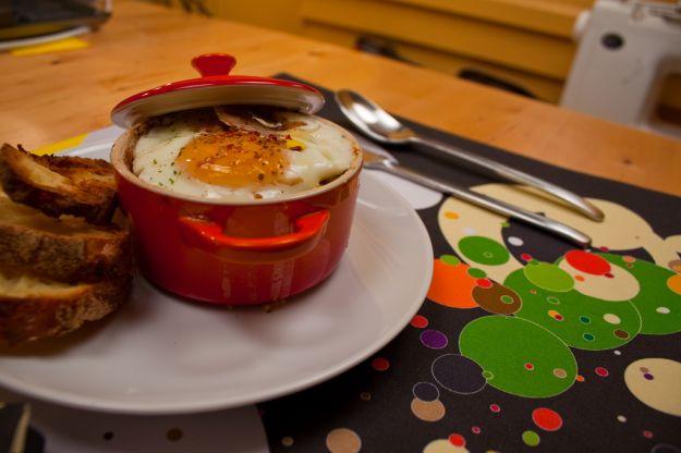 uova in cocotte al salmone