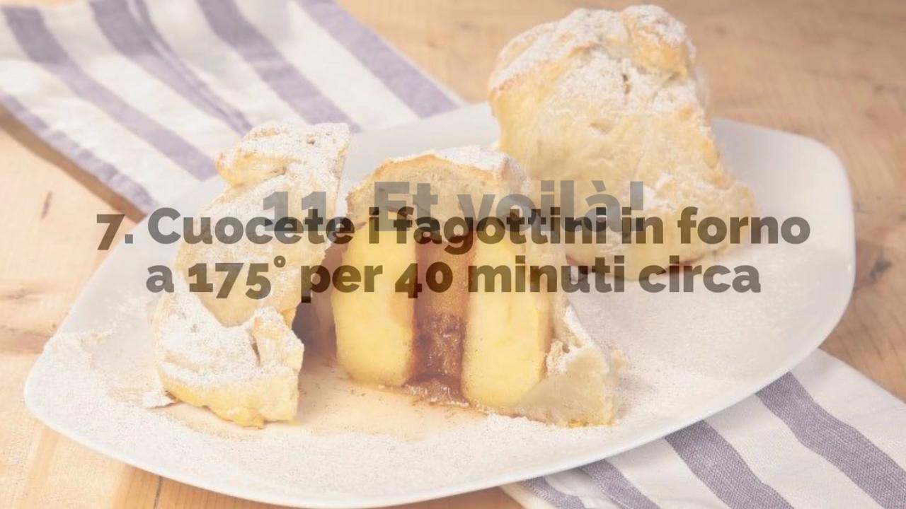 La ricetta dei fagottini di mele