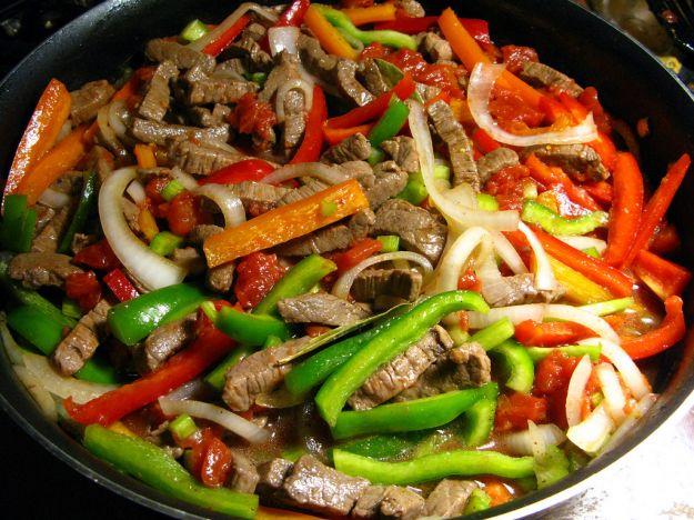 Vitello con i peperoni