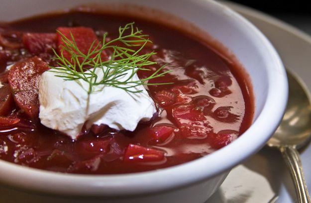 Zuppa di barbabietole o borscht