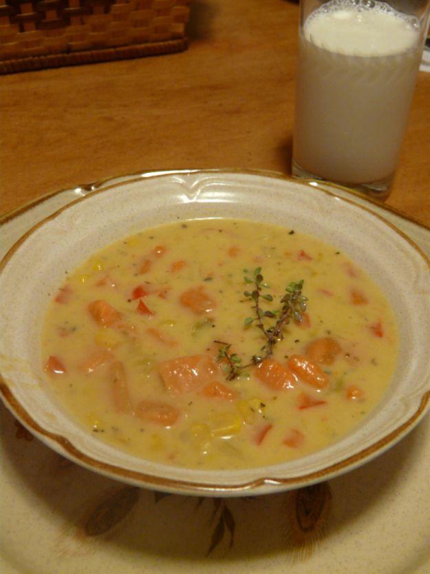 Zuppa di patate e pancetta affumicata