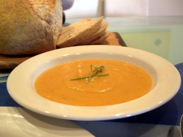 Zuppa di radicchio, porro e zucca